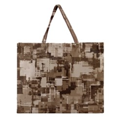 Color Abstract Background Textures Zipper Large Tote Bag by Nexatart