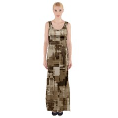 Color Abstract Background Textures Maxi Thigh Split Dress