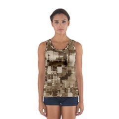 Color Abstract Background Textures Women s Sport Tank Top