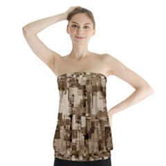 Color Abstract Background Textures Strapless Top