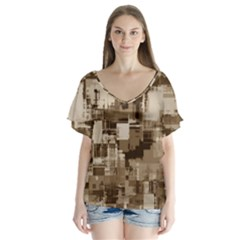 Color Abstract Background Textures Flutter Sleeve Top