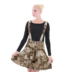 Color Abstract Background Textures Suspender Skater Skirt