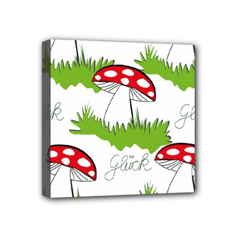 Mushroom Luck Fly Agaric Lucky Guy Mini Canvas 4  X 4  by Nexatart