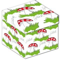Mushroom Luck Fly Agaric Lucky Guy Storage Stool 12   by Nexatart