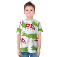Mushroom Luck Fly Agaric Lucky Guy Kids  Cotton Tee