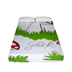 Mushroom Luck Fly Agaric Lucky Guy Fitted Sheet (full/ Double Size)
