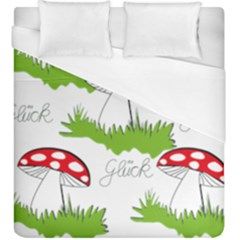 Mushroom Luck Fly Agaric Lucky Guy Duvet Cover (king Size)