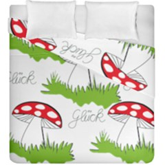 Mushroom Luck Fly Agaric Lucky Guy Duvet Cover Double Side (king Size)