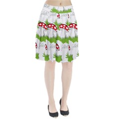 Mushroom Luck Fly Agaric Lucky Guy Pleated Skirt