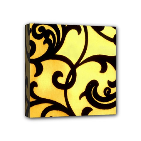 Texture Pattern Beautiful Bright Mini Canvas 4  X 4  by Nexatart