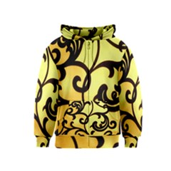 Texture Pattern Beautiful Bright Kids  Zipper Hoodie