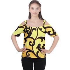 Texture Pattern Beautiful Bright Women s Cutout Shoulder Tee