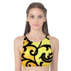 Texture Pattern Beautiful Bright Tank Bikini Top