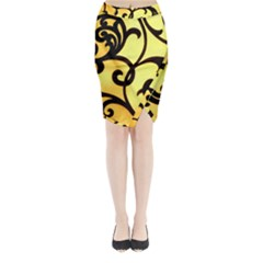 Texture Pattern Beautiful Bright Midi Wrap Pencil Skirt