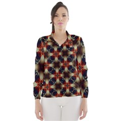 Kaleidoscope Image Background Wind Breaker (women)