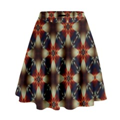 Kaleidoscope Image Background High Waist Skirt by Nexatart