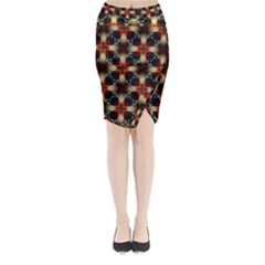 Kaleidoscope Image Background Midi Wrap Pencil Skirt