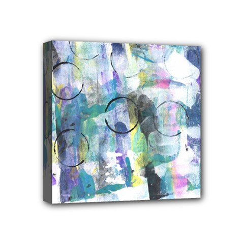 Background Color Circle Pattern Mini Canvas 4  X 4