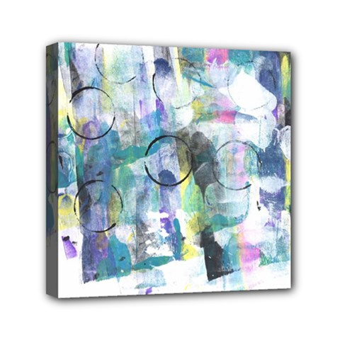 Background Color Circle Pattern Mini Canvas 6  X 6  by Nexatart