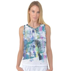 Background Color Circle Pattern Women s Basketball Tank Top by Nexatart
