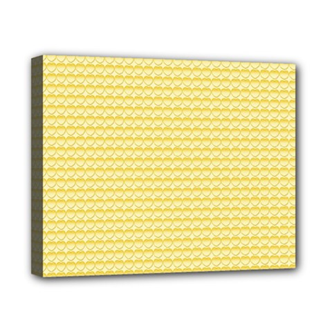 Pattern Yellow Heart Heart Pattern Canvas 10  x 8