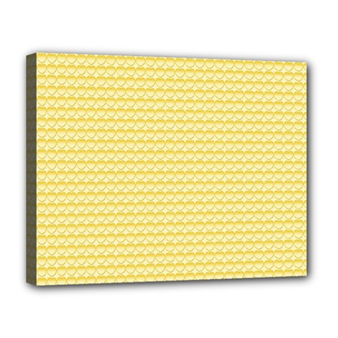 Pattern Yellow Heart Heart Pattern Canvas 14  x 11