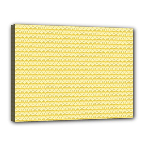Pattern Yellow Heart Heart Pattern Canvas 16  x 12