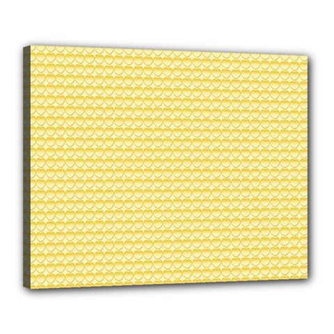 Pattern Yellow Heart Heart Pattern Canvas 20  x 16