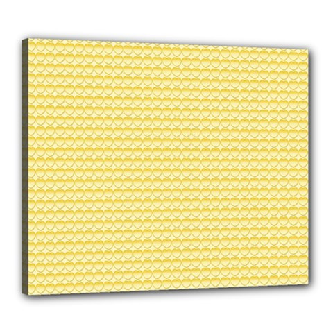 Pattern Yellow Heart Heart Pattern Canvas 24  x 20