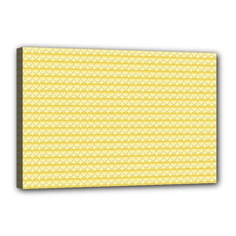 Pattern Yellow Heart Heart Pattern Canvas 18  x 12