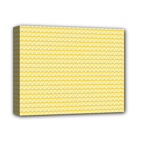 Pattern Yellow Heart Heart Pattern Deluxe Canvas 14  x 11