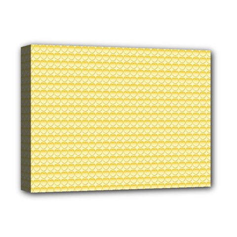 Pattern Yellow Heart Heart Pattern Deluxe Canvas 16  x 12