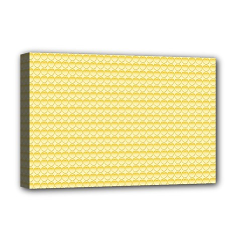 Pattern Yellow Heart Heart Pattern Deluxe Canvas 18  x 12