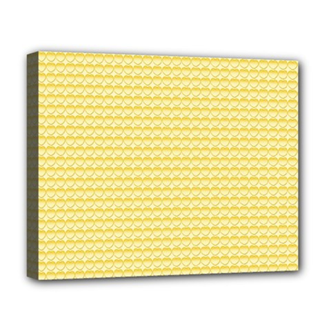 Pattern Yellow Heart Heart Pattern Deluxe Canvas 20  x 16