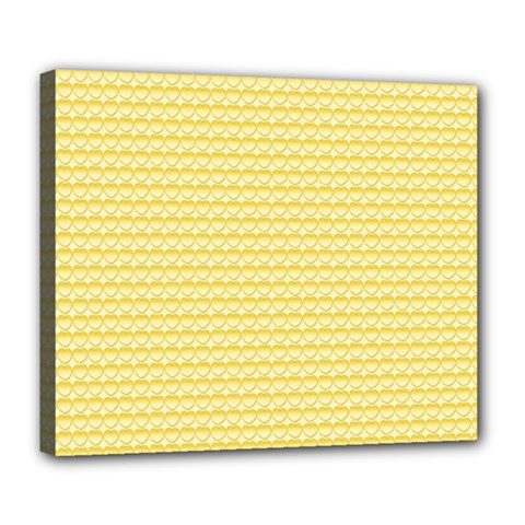 Pattern Yellow Heart Heart Pattern Deluxe Canvas 24  x 20