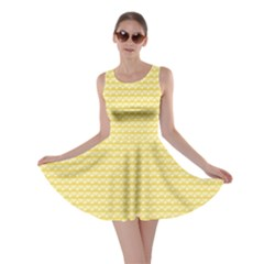 Pattern Yellow Heart Heart Pattern Skater Dress