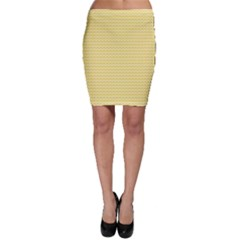 Pattern Yellow Heart Heart Pattern Bodycon Skirt