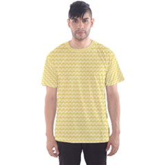 Pattern Yellow Heart Heart Pattern Men s Sport Mesh Tee