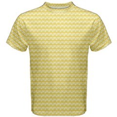 Pattern Yellow Heart Heart Pattern Men s Cotton Tee