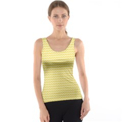 Pattern Yellow Heart Heart Pattern Tank Top