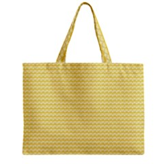 Pattern Yellow Heart Heart Pattern Mini Tote Bag