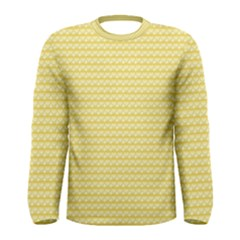 Pattern Yellow Heart Heart Pattern Men s Long Sleeve Tee