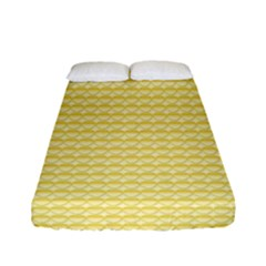 Pattern Yellow Heart Heart Pattern Fitted Sheet (Full/ Double Size)