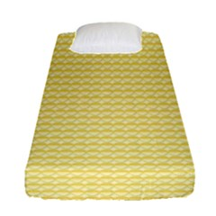 Pattern Yellow Heart Heart Pattern Fitted Sheet (Single Size)