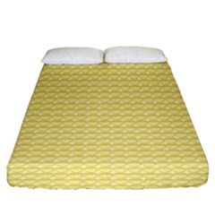 Pattern Yellow Heart Heart Pattern Fitted Sheet (King Size)