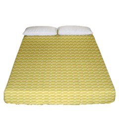 Pattern Yellow Heart Heart Pattern Fitted Sheet (California King Size)