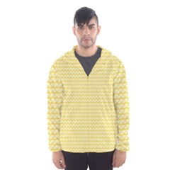 Pattern Yellow Heart Heart Pattern Hooded Wind Breaker (Men)
