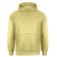 Pattern Yellow Heart Heart Pattern Men s Pullover Hoodie
