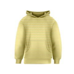 Pattern Yellow Heart Heart Pattern Kids  Pullover Hoodie