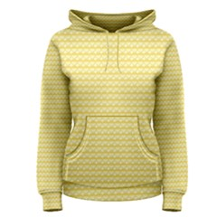 Pattern Yellow Heart Heart Pattern Women s Pullover Hoodie